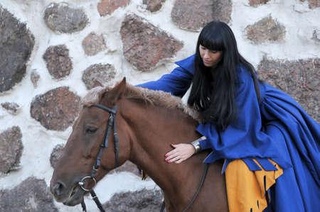 Medieval horseback riding  photo