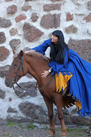 Medieval horseback riding  photo