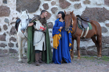 storia d'amore in stile medievale photo