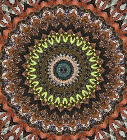 brown circular east ornament