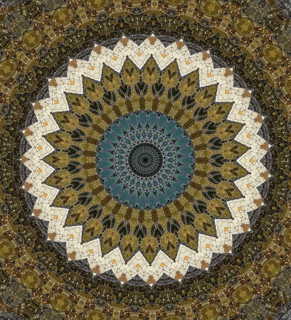ottoman fabric: brown circular east ornament