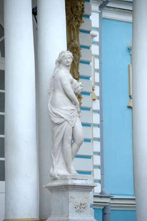 pushkin: Statue of a beautiful woman  Stock Photo
