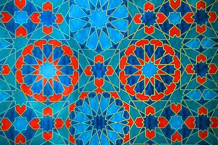 osmanisch: Orientalische Dekoration in blauen und roten Farben