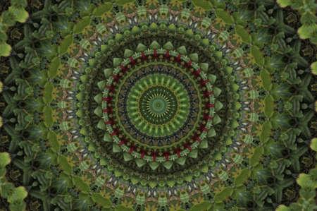 зеленой мозаики