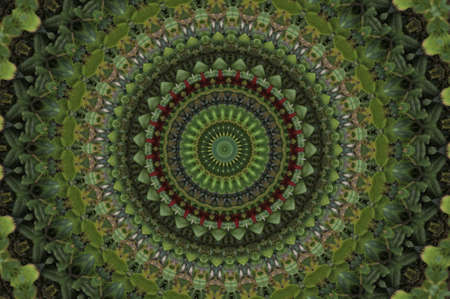 crop circle: green mosaic pattern