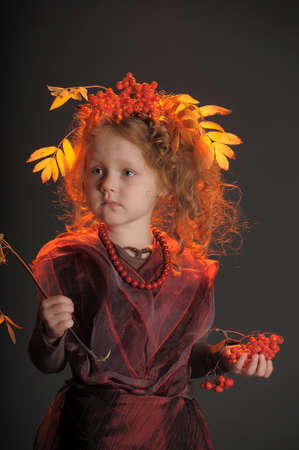 red haired woman: Autumn redheaded princess Stock Photo