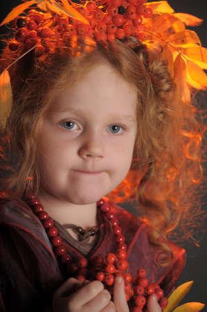 redheaded: Autumn redheaded princess Stock Photo
