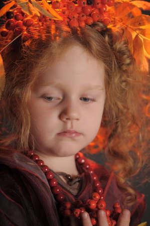 Autumn redheaded princess photo