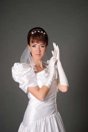 wedlock: The happy bride  Stock Photo