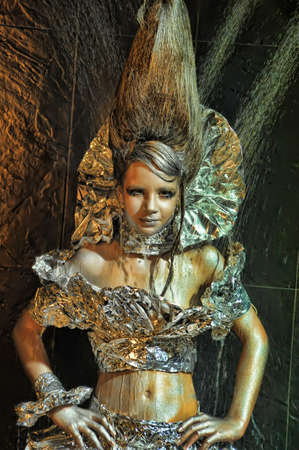 girl in silver and foil Stock Photo - 11019969