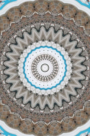 brown with blue oriental ornament photo