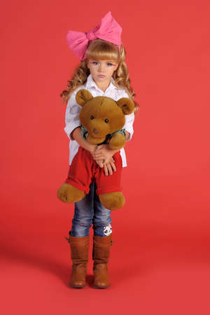 Children fashion doll blond girl Stock Photo - 13683256