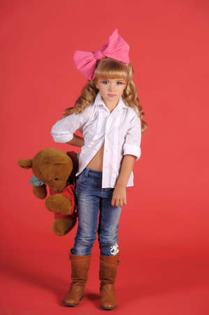 Children fashion doll blond girl Stock Photo - 13683277