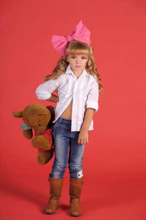 Children fashion doll blond girl Stock Photo - 13683277