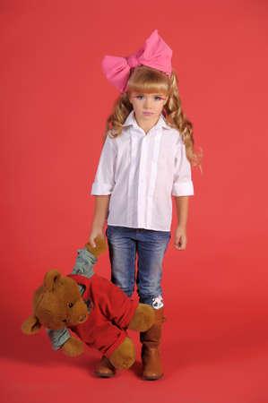 curly headed: Children fashion doll blond girl
