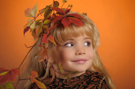 Portrait of the small autumn princess Stock Photo - 11036504