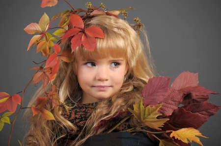 Portrait of the small autumn princess  photo