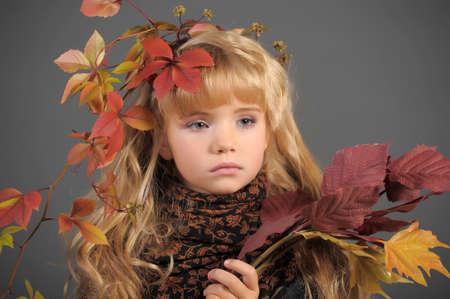 Portrait of the small autumn princess Stock Photo - 11036510