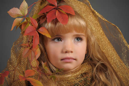 Portrait of the small autumn princess