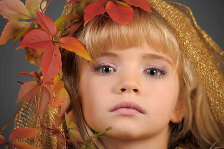 Portrait of the small autumn princess Stock Photo - 11036473