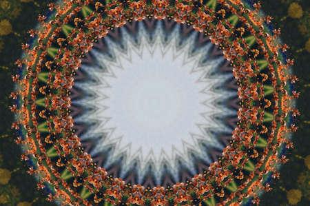 workmanship: brown oriental ornament, mosaic