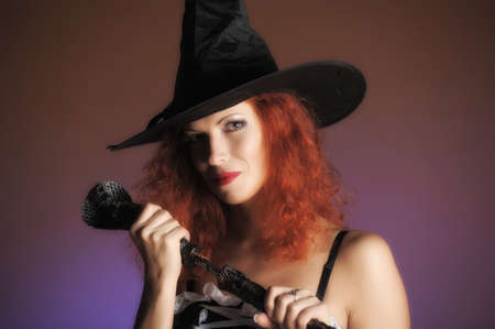 sectarian: redheaded witch Stock Photo