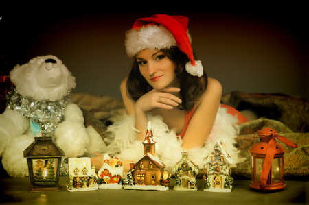 Girl on Christmas Stock Photo - 15390962