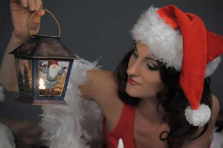 Girl on Christmas Stock Photo - 15390937
