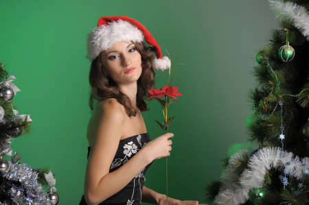 Girl on Christmas photo