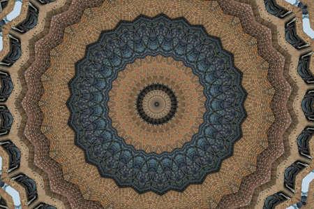 workmanship: Oriental decoration in shades of brown