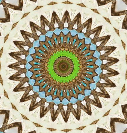colored mosaic photo