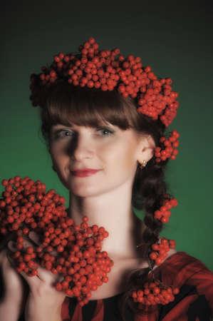 Autumn portrait in studio Stock Photo - 11960779