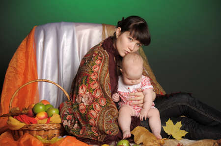 Russian woman with a child Stock Photo - 12024124
