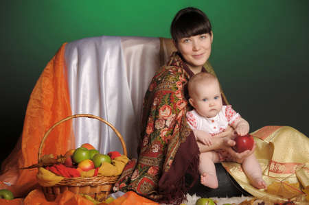 Russian woman with a child Stock Photo - 12021659