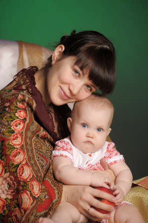 Russian woman with a child Stock Photo - 12023916