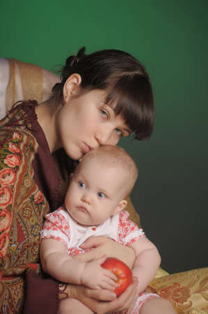 Russian woman with a child photo