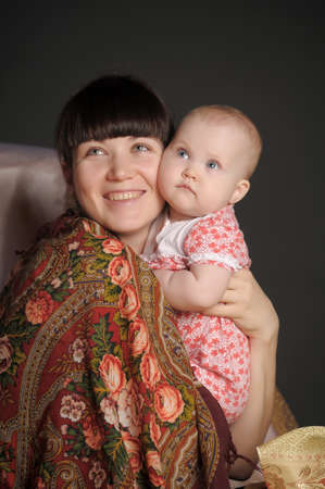 Russian woman with a child Stock Photo - 12024159