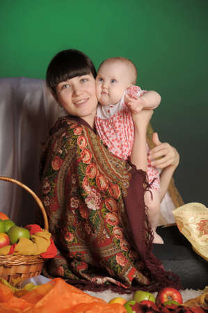 Russian woman with a child Stock Photo - 12024162