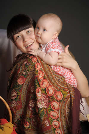 Russian woman with a child Stock Photo - 12024160