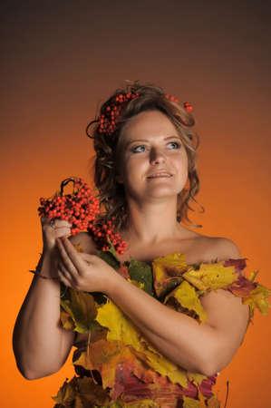 Autumn portrait in retro style Stock Photo - 11422472
