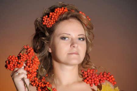 Autumn portrait in retro style Stock Photo - 11422465