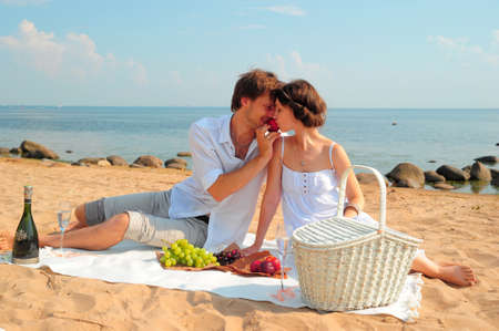 Young romantic couple on the beach Stock Photo - 11570251