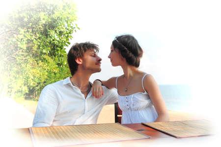 Young couple enjoying lunch Stock Photo - 13326201