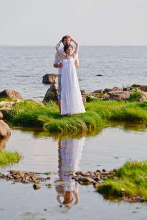 romantic couple at sea Stock Photo - 11621530