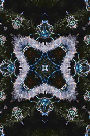 woollen: blue oriental ornament