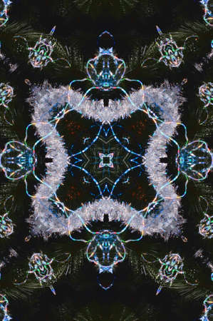 floor mat: blue oriental ornament