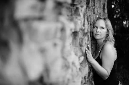 Girl near the ruins Stock Photo - 13318887