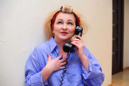Vintage woman on telephone  Stock Photo - 11935428