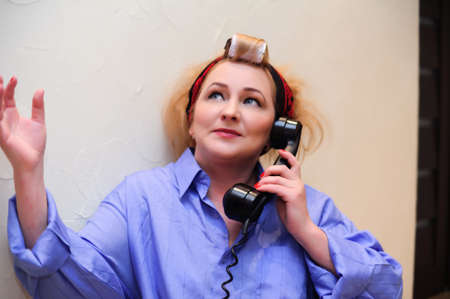 Vintage woman on telephone  Stock Photo - 11935449
