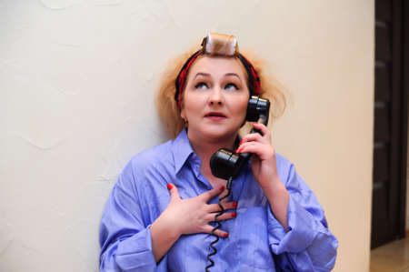 Vintage woman on telephone Stock Photo - 11935451